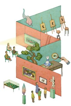 editorial illustration 2014 - 2 by whooli chen, via Behance