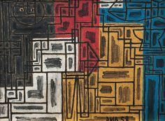 Daymán Antúnez, 'Constructivo en colores primarios', 1958