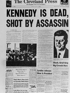 kennedy assassination newspaper headlines | Kennedy Assassination Headline Lámina fotográfica en AllPosters.es