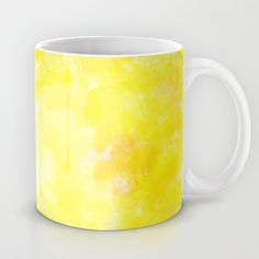 Wateryellow Mug by Escrevendo e Semeando - $15.00
