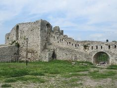 The northern bastion of century Berat Castle in Berat, Albania, protected the complex from attacks from adjacent hills. Albania, Barcelona Cathedral, Unesco, Castle, Mansions, House Styles, Southern, History, Luxury Houses