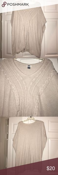 Oversized nude sweater This sweater is perfect for casual wear with leggings or jeans . Pair with riding boots! Old Navy Sweaters Shrugs & Ponchos