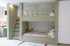 How to build triple bunk beds kids transitional with kids built in bunk beds shared bedroom colorful bedding