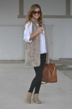 Fur Vest for Stylish Winter Look: 20 Outfit Ideas