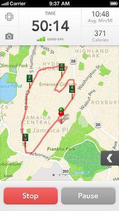 RunKeeper 3.0 iPhone App, UI, Mobile
