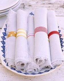 diy napkin rings with washi tape