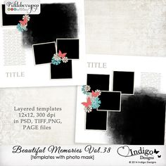 Beautiful Memories Templates Vol.38 by Indigo Designs
