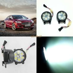 69.99$  Watch here - http://ali774.worldwells.pw/go.php?t=32741848680 - July King 18W 6LEDs H11 LED Fog Lamp Assembly Case for Ford Mondeo Fusion 2013~ON, 6500K 1260LM LED Daytime Running Lights