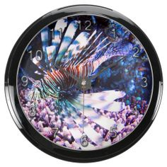 Underwater 9 Aqua Clock & Numeral Options