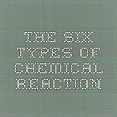 The Six Types of Chemical Reaction