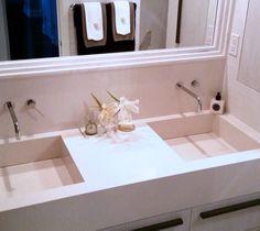 Hand-built integrated sinks and vanity - Broken Down Designs, Toronto Sinks, Toronto, Bathtub, Vanity, Bathroom, Building, Design, Standing Bath, Painted Makeup Vanity