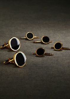 Gatsby clothing for men - Brooks Brothers - menswear from the 1920s cufflinks 008I_ONYX-GOLD_G.jpg