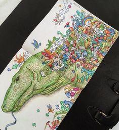 «Animorphia by @andywalton7  #doodles #mandala #art #arttherapy #doodlemorphia… Colouring Pages, Coloring Books, Ap Studio Art, Color Combos, Color Schemes, Polychromos, Coloured Pencils, Gel Pens, Art Pages
