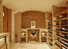 Neuschwander wine cellar construction - reference cellar in Baden-Baden - vaulted cellar - Подвал - Wein Home Wine Cellars, Wine Cellar Design, Wine Rack, Man Cave, New Homes, Construction, Architecture, House, Furniture