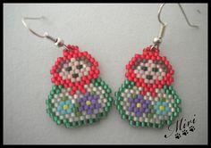 peyote matryoshka earrings -  LAS MIRI CREACIONES: DELICAS