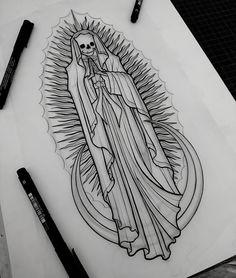 Our death of Guadalupe available! #ourladyofguadalupe #darktattoos #blackflashwork #blackworkers #blacktattooing #btattooing #blackworkerssubmission #inkstinctsubmission #onlythedarkest #onlyblackart #silverbackink #occultarcana #blackworkershero #iblackwork #tatouage #thebesttattooartists
