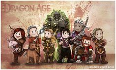 Dragon Age Origins: The Party by Isriana on DeviantArt