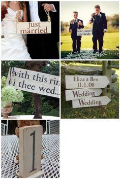 Lots of sign options. Perfect Wedding, Dream Wedding, Wedding Day, Wedding Things, Wedding Decor, Wedding Stuff, Wooden Wedding Signs, Wedding Signage, Best Friend Wedding