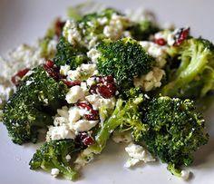 Warm Broccoli Salad with Feta Cheese (FM)
