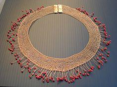 Textile Jewelry, Fabric Jewelry, Wire Jewelry, Beaded Jewelry, Jewellery, Wire Crafts, Jewelry Crafts, Viking Knit Jewelry, Wire Crochet