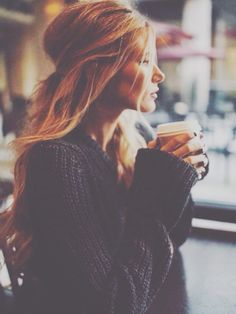 Lovely. Coffee. Sweater