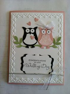Wedding Card - All essential products can be found on Crafting.co.uk - for all your crafting needs. - wedding card - owl love