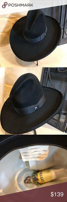 bcac2c446598c4 Stetson 4x beaver 500 brim hat vintage Stetson 4X Beaver hat. I good  condition.