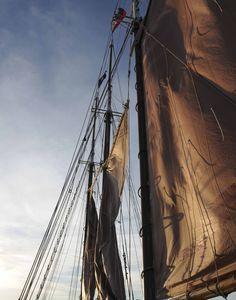 Raising sail on the Margaret Todd