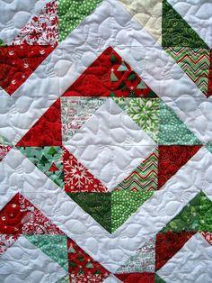 Modern Quilt // Modern Christmas Quilt // by ModernQuiltDesigns