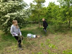 Busy clearing the woodland for our new bell tent classroom.