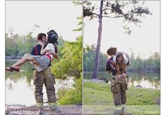 OMG this is so typical firefighter, throws you over his shoulder and carries you off. Love it!