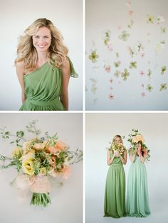 Green Bridesmaids dresses  Photograph by Elizabeth Messina