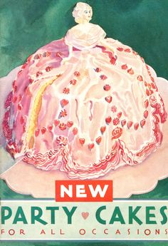 Party Cakes for All Occasions Vintage Cookbook Baking Recipes ...