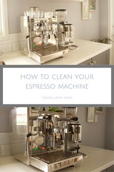 Get great tips on how to clean and shine your coffee machine Expresso Coffee, Espresso Coffee Machine, Clean And Shiny, Me Clean, Kitchen Cupboards, Kitchen Appliances, Sparkling Clean, Drip Tray, Diy Cleaners