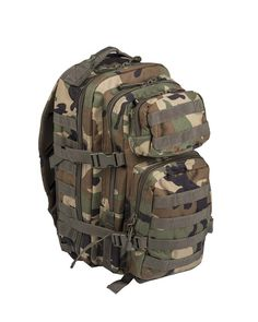 Mil-Tec Military Army Patrol Molle Assault Pack Tactical Combat Rucksack Backpack Bag 20L Woodland Camo *** Details can be found by clicking on the image.