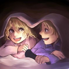 Magnus and Annabeth as kids