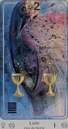 Haindl Tarot- 2 of Cups