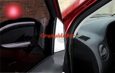 A pillar inner triangle cover trim 2pcs For Jeep Patriot 2011 2012 2013 2014 2015 car styling