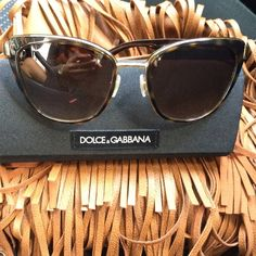 D&G Sunglasess Absolutely love these but they don't go with me too well. In amazing condition. Includes case and cloth. PRICE IS FIRM. (On Ⓜ️erc) Dolce & Gabbana Accessories Glasses