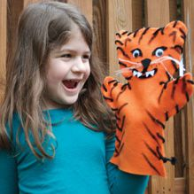 Make a tiger puppet - from the August 2015 issue of Ranger Rick Jr. Animals Information, Animal Crafts, Recycled Crafts, Grandchildren, Puppets, Fun Activities, Ronald Mcdonald, Wildlife, Arts And Crafts