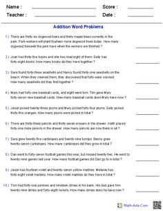 Two Step Addition And Subtraction Word Problems Worksheets Fraction Word Problems, Math Word Problems, Addition Words, 7th Grade Math, Grade 2, Math Problem Solving, Math Words, Addition And Subtraction, Math Worksheets