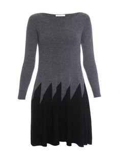 Zigzag Wool and Cashmere Sweater Dress