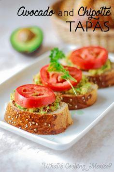Avocado and chipotle Tapas