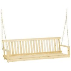 Jennings Traditional Wooden Outdoor Porch Swing W/ Chain Hanging Kit Traditional Wooden Porch Swing Seat. Patio Swing, Swing Seat, Backyard Patio, Wood Swing, Backyard Ideas, Patio Furniture Sets, Outdoor Furniture, Outdoor Decor, Outdoor Living