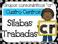 """NO PREP! Spanish Blends """"Cr""""  CCSS NO REQUIERE PREPARACION!  Este paquete incluye cuatro centros o estaciones  para las silabas trabadas o grupos consonnticos  """"cra, cre, cri, cro, cru"""" con hojas de registro para los estudiantes a diferentes niveles.CCSS:    RF.K.2.B RF.K.1.C , RF.2.3.D, RF.2.3.C, RF.2.3.F, RF.1.1 A, RF.1.2.A, RF.1.2.D,  RF.1.3.A, RF. 1.3, RF.1.3.DB, RF.1.3.D,  RF.1.3.G,  RF.1.4.B , RF.K.1.B, RF.K.2.B,RF.K.3.A, LK.2DCentros1.- Tapetes de silabas trabadas para plastilina5…"""