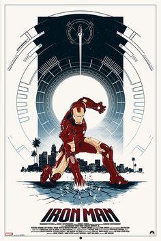 Iron Man movie poster by Grey Matter Art