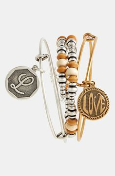 Alex and Ani 'Initial' Adjustable Wire Bangle WANT THIS!!!
