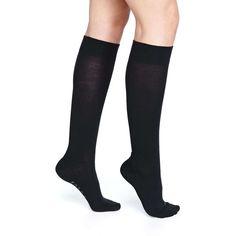 Falke Textured-Band Knee Sock ($38) ❤ liked on Polyvore featuring intimates, hosiery, socks, dark navy, knee hi socks, navy knee socks, navy blue socks, navy knee high socks and falke hosiery