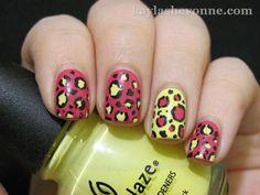 Bright Cheetah nail by Kayla Shevonne