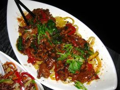 Teriyaki beef egg noodles from Infusion Lounge